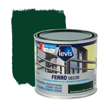 Levis Ferro Decor grondverf en afwerkingslak hoogglans donkergroen 500 ml