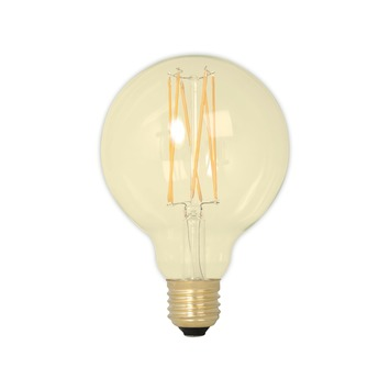 Calex LED filament globe 9,5 cm E27 4 W 320 Lm dimbaar goud