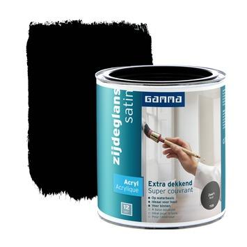 GAMMA lak extra dekkend zijdeglans zwart 750 ml