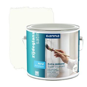 GAMMA Extra Dekkend acryllak zijdeglans gebroken wit 2,5 L