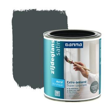GAMMA Extra Dekkend acryllak zijdeglans antraciet 750 ml
