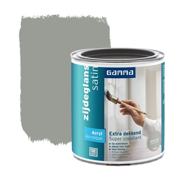 GAMMA lak extra dekkend zijdeglans wintergrijs 750 ml