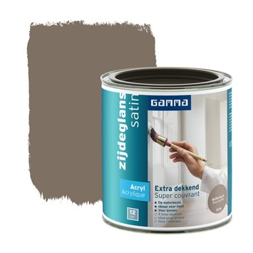 GAMMA lak extra dekkend zijdeglans buffelbruin 750 ml