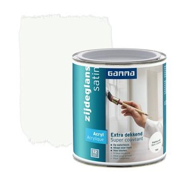 GAMMA lak extra dekkend zijdeglans platina wit 750 ml