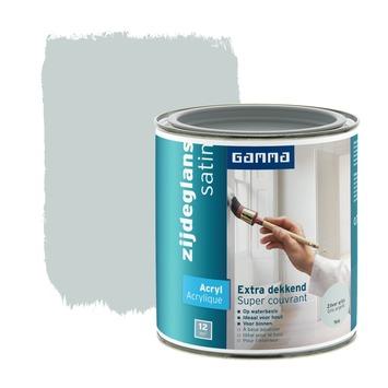 GAMMA Extra Dekkend acryllak zijdeglans zilvergrijs 750 ml