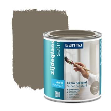 GAMMA Extra Dekkend acryllak zijdeglans taupe grijs 750 ml