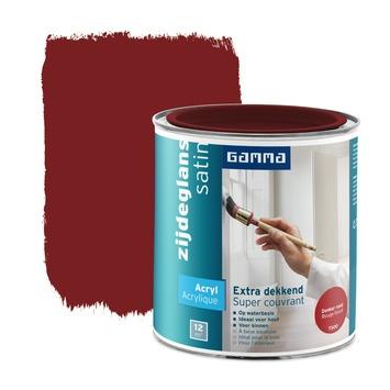 GAMMA lak extra dekkend zijdeglans donker rood 750 ml