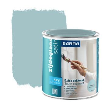 GAMMA lak extra dekkend zijdeglans zeeblauw 750 ml