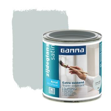 GAMMA lak extra dekkend zijdeglans zilvergrijs 250 ml