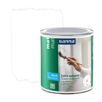 GAMMA Extra Dekkend acryllak mat wit 750 ml