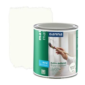 GAMMA Extra Dekkend acryllak mat gebroken wit 750 ml