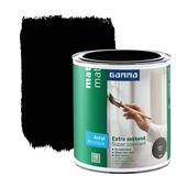 GAMMA lak extra dekkend mat zwart 750 ml