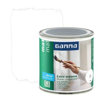 GAMMA lak extra dekkend mat wit 250 ml
