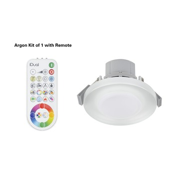 iDual inbouwspot Argon met geïntegreerde LED 7W 400 lumen glas, incl. afstandsbediening
