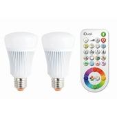 Ampoule LED iDual E27 11W = 60W 806 Lm 2 pièces avec télécommande