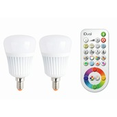 Ampoule LED iDual E14 7W = 40W 470 Lm 2 pièces dimmable avec télécommande