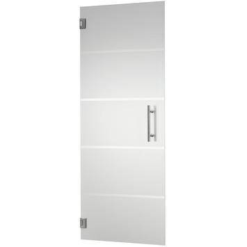 CanDo binnendeur hardglas mat 4-lines 201,5x83 cm