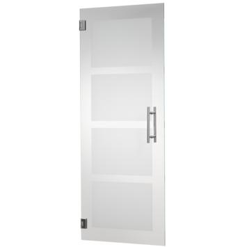 CanDo binnendeur hardglas mat 4-block 201,5x78 cm