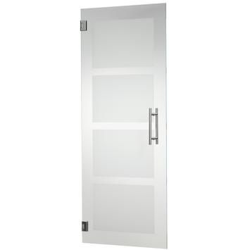 Porte intérieure en verre trempé CanDo mat 4-block 201,5x88 cm