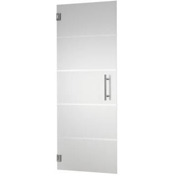 Porte intérieure en verre trempé CanDo mat 4-lines 201,5x93 cm