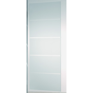 CanDo schuifdeur hardglas mat 4-lines 210x90 cm
