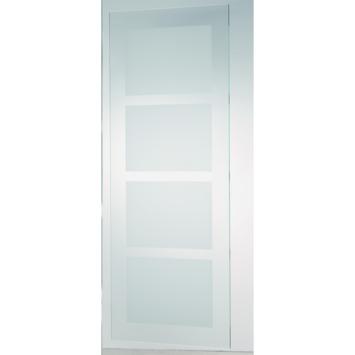Porte coulissante en verre trempé CanDo mat 4-blocs 210x90 cm