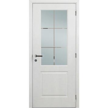 Binnendeurblad Levigato M02 wit met mat glas 201,5x73 cm