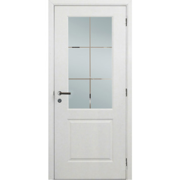 Binnendeurblad Levigato M02 wit met mat glas 201,5x78 cm