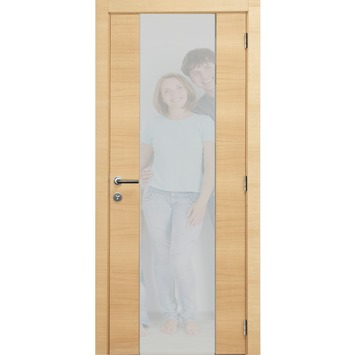panneau de porte int rieure 201 5x78 cm placage ch ne horizontal avec vitre verticale portes. Black Bedroom Furniture Sets. Home Design Ideas