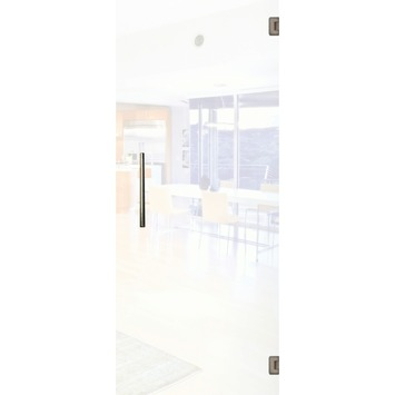 Solid binnendeur Vetro C001 mat glas 201x78 cm