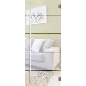 Solid binnendeur Vetro C003 mat glas 201x83 cm