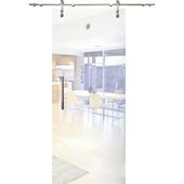 Porte coulissante en verre Slide Vetro C001 mat 215x93 cm