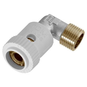 """Van Marcke Push-fit koppeling haaks 90° Superpipe 1/2""""M x Ø20/2"""