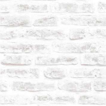 Vliesbehang Stenen wit 101801