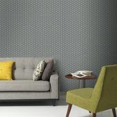 Gekleurd vliesbehang dessin origami grijs zilver32-828 10 m x 52 cm