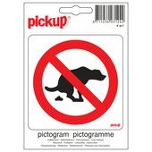 Pickup pictogram hier geen hondenpoep 10x10 cm