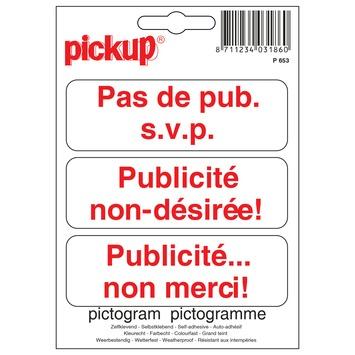 Pickup picto 10x10 pas de pub s.v.p.