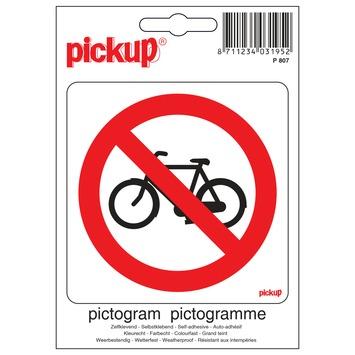 PickUp sticker 'geen rijwielen' 10x10 cm
