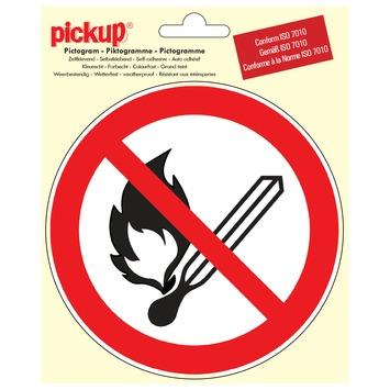 Pictogram open vlam en vuur verboden ø 15 cm