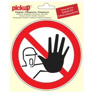 Pictogram verboden toegang voor onbevoegden ø 15 cm