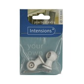 Intensions combisteun voor roede wit ø13 mm 2 st