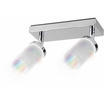 iDual Citrine duobalk met geïntegreerde LED 2x 6W 345 lumen chroom incl. afstandsbediening