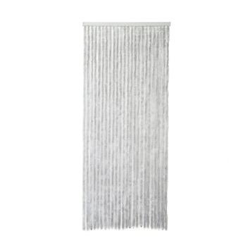 Rideau de porte chenille gris 231,5x100 cm