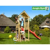 Jungle Gym Club met korte rode glijbaan met wateraansluiting
