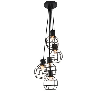 Suspension Miran 5 points lumineux noir