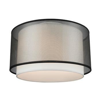 Plafondlamp Ocala zwart diameter 25 cm