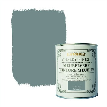 Rust-Oleum Chalky finish meubelverf Antraciet 750 ml