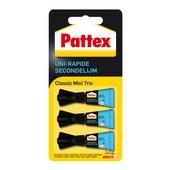 Pattex secondelijm mini trio 3g