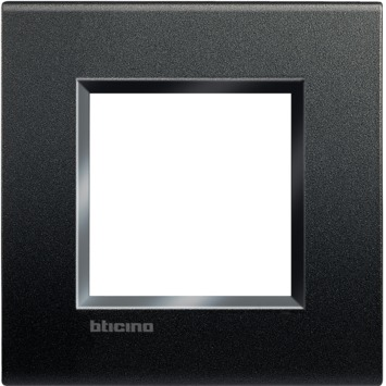 Bticino LivingLight afdekplaat enkelvoudig zwart