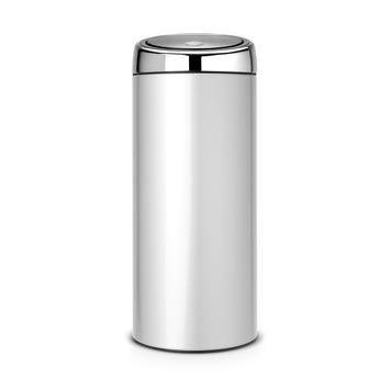 Poubelle Touch Bin Brabantia 30 L gris métallique